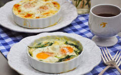 Emily Rookwood's Spinach Oeufs en Cocotte recipe