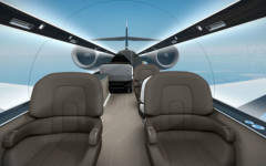 No more fighting for the window seat: Technicon Design create windowless plane