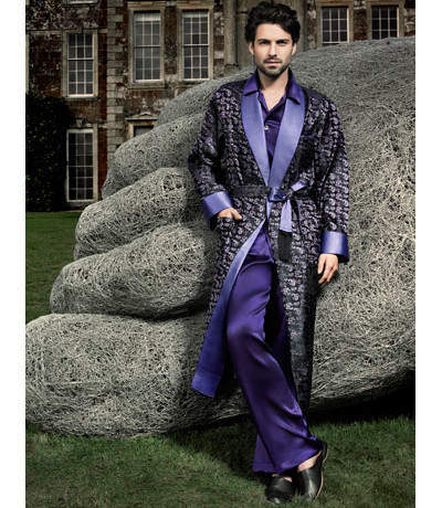 Inspiring British tailoring in your dressing gown and fez