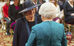 William Cash is honoured to meet Dame Maggie Smith at a royal investiture