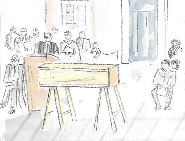 Exclusive: Adam Dant's sketches from Richard III's reburial
