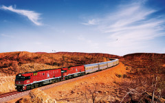 North-south cross-country on Australia's legendary Ghan railway