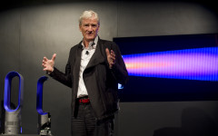 Inventor James Dyson launches the Dyson DC41 Ball vacuum and the Dyson Hot heater fan on Wednesday, Sept., 14, 2011 in New York. Both machines are available in retail stores nationwide this week. Rob Bennett/AP Images for Dyson