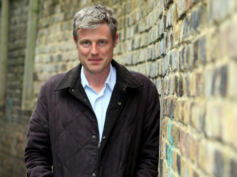 Zac Goldsmith outside Barnes Bridge Station in South West London, ahead of tomorrow's General Election.