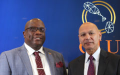 Prime Minister Timothy Harris and the Head of CIU Les Khan