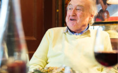 Liquid lunch: Henry Blofeld gets back in the commentary box
