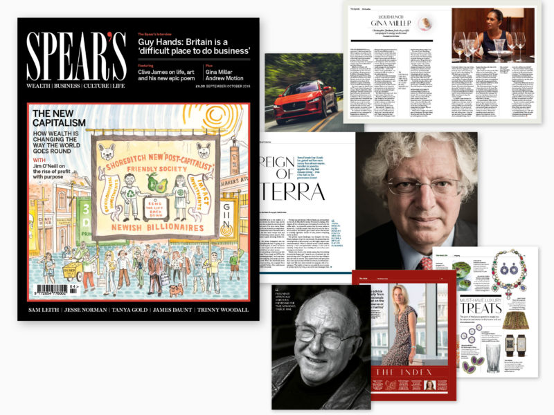 The latest issue of Spear's is out now