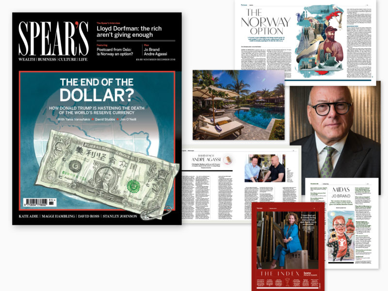 The END of the Dollar? The latest issue of Spear's is out now