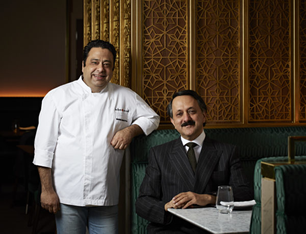 Restaurateur Rohit Khattar with Corporate Chef Manish Mehrotra at Indian Accent, London