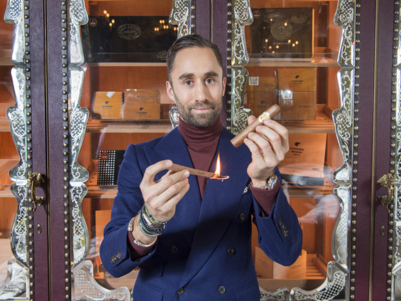Meet the go-to cigar sommelier of London's clubland
