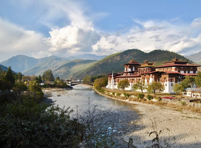 Our Cookson adventure paused here for a view over the dzong where the Punakha Tsechu Festival is held, commemorating the birth of The Second Buddha.