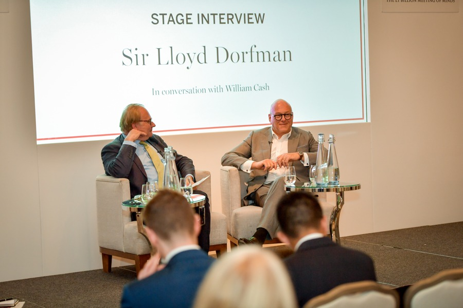 Sir Lloyd Dorfman interviewed by Spear's founder William Cash at the Spear's Wealth Insight Forum 2019