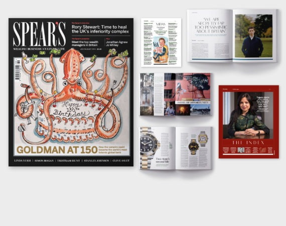 Inside the latest issue of Spear's: Goldman Sachs at 150, Rory Stewart exclusive, 2019's top wealth managers