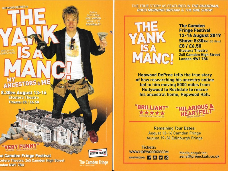 Stand-up review: 'The Yank is a Manc!'