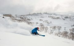 Skiing in Niseko, the land of the sliding fun