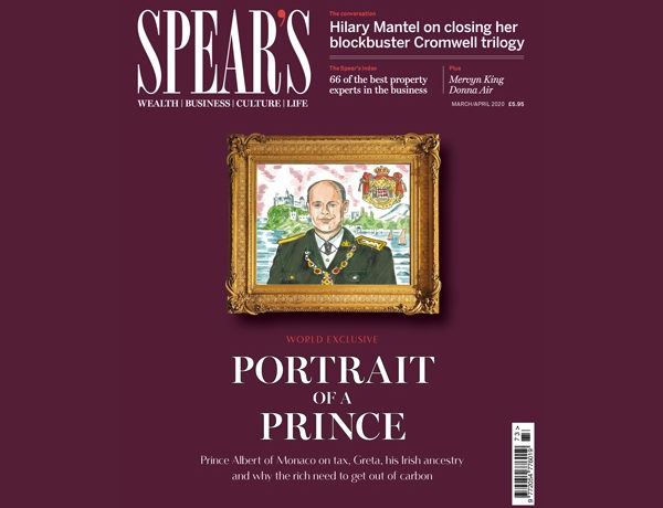 Inside the latest issue of Spear's: Prince Albert world exclusive headlines the most packed edition yet