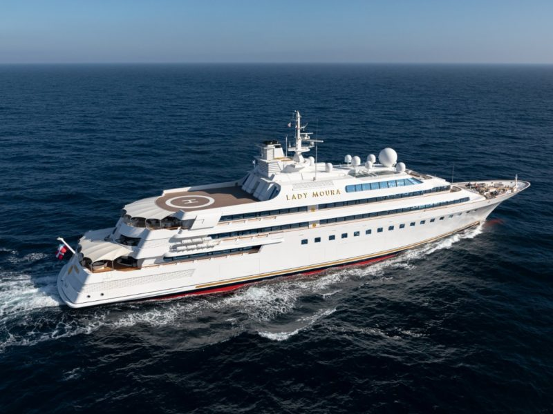 Onboard Lady Moura: The world's first superyacht