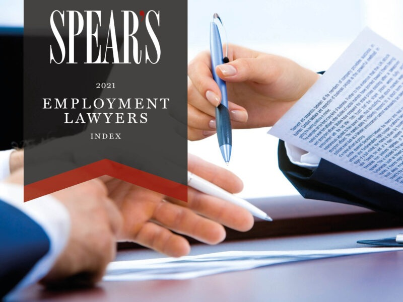The best employment lawyers for senior executives, wealth managers and family offices